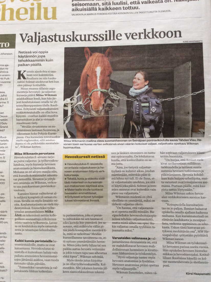 Hevoskoulutus.fi verkkokurssit