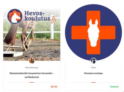 Ilmaisia ja maksullisia hevoskursseja