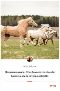 Hevosen rakenne. Verkkokurssi