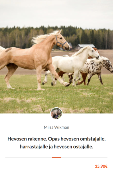 Uusi verkkokurssi: hevosen rakenne